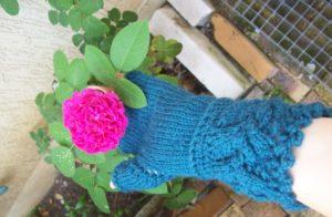 Mitaines veyla et une rose