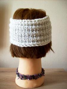 Headband tricot vue de dos