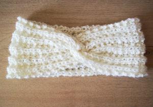 headband tricot à plat